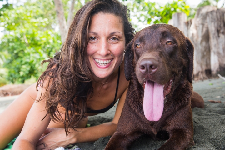 yoga retreat costa rica ewa valentina New Year's Ave Blue Osa Yoga studio Rama Dog Pet Cuddles