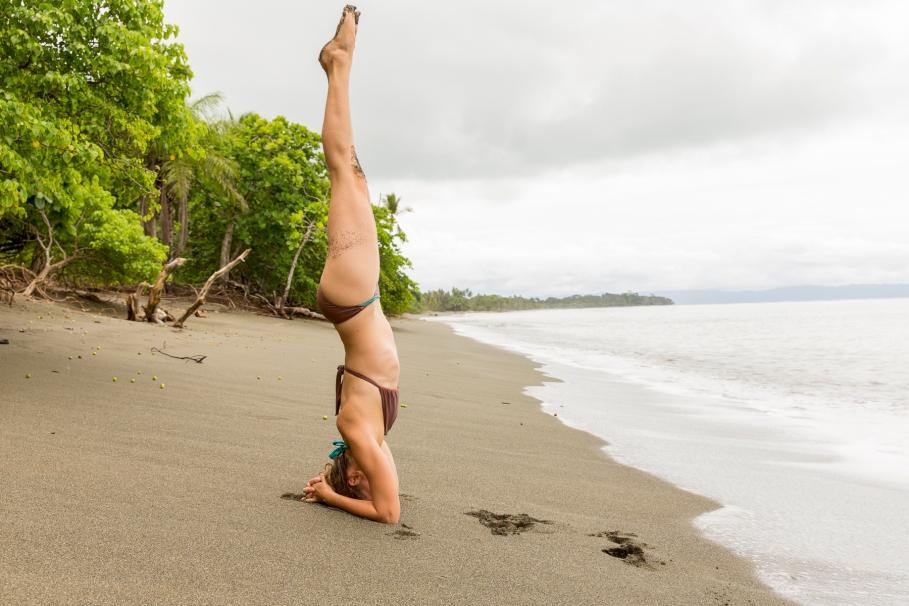 Ewa handtsand Playa Tamales beach costa rica yoga retreat