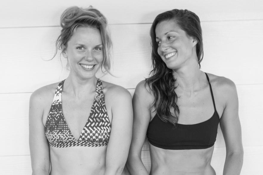 Ewa+Valentina after teaching yoga in Costa Rica