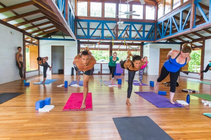 Practcing yoga