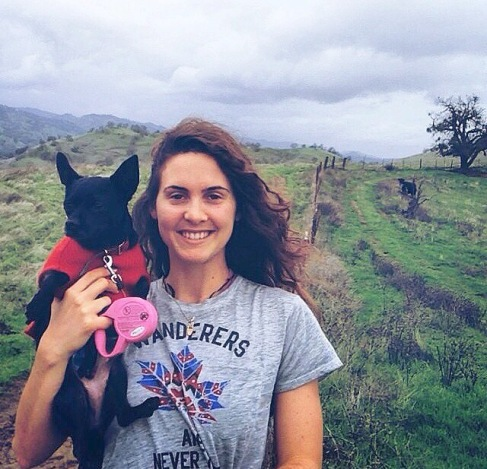 Erin Cookston and her dog Ellie