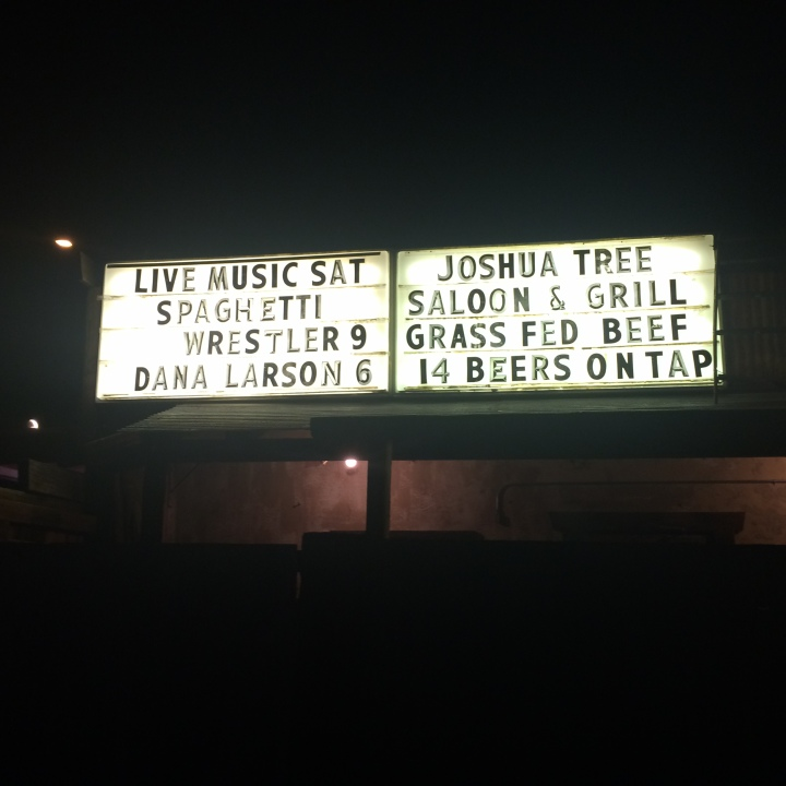 The Joshua Tree Saloon Billboard