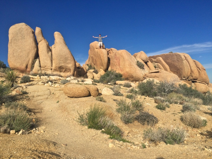 Joshua Tree Jumbo Rock Adam Climb