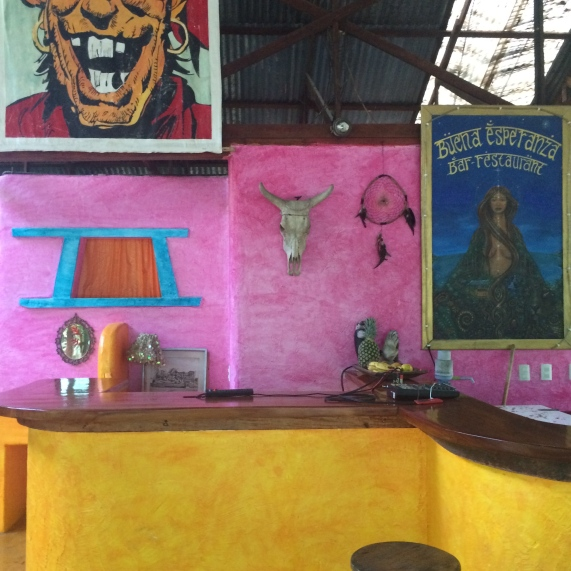 Martina's jungle bar is one of a kind!
