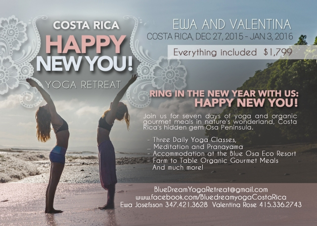 Yoga Retreat Costa Rica Osa Peninsula New Years Eve Blue Osa