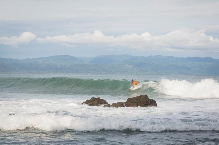 Aaron surfing pan dulce Blue Osa Costa Rica