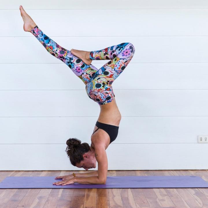 Pincha Mayurasana Peakock Pose Yoga Costa Rica Blue Osa