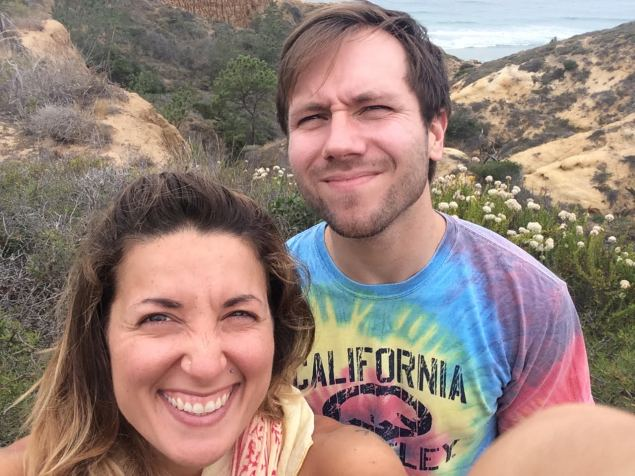Adam and I at Torrey Pines, San Diego, CA
