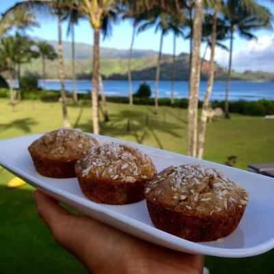 Vegan Banana Pineapple Coconut muffins