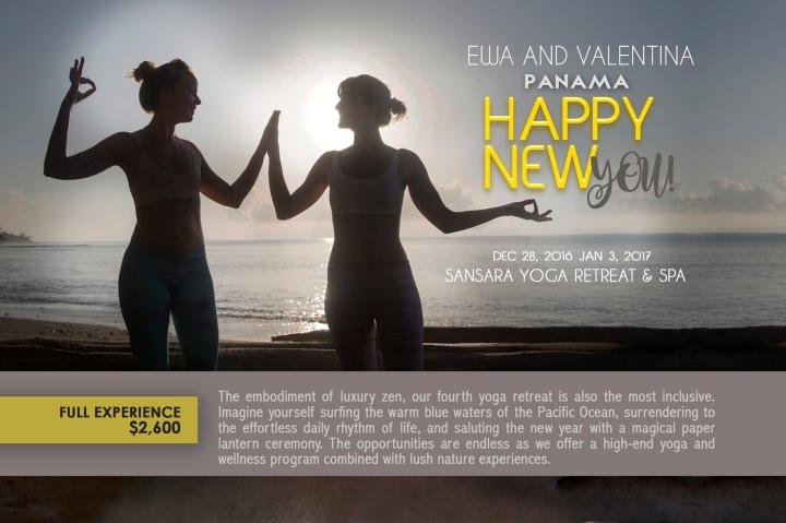 Valentina Rose Ewa Josefsson Panama New Year's Eve Yoga Retreat 2016 Sansara Yoga and Surf back
