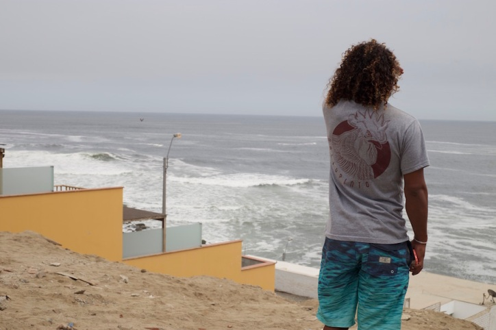 Traveling to Costa Rica Without a Yellow Fever Vaccine Valentina Rose Blog Aaron Garcia looking at waves in Punta Hermosa Lima Peru