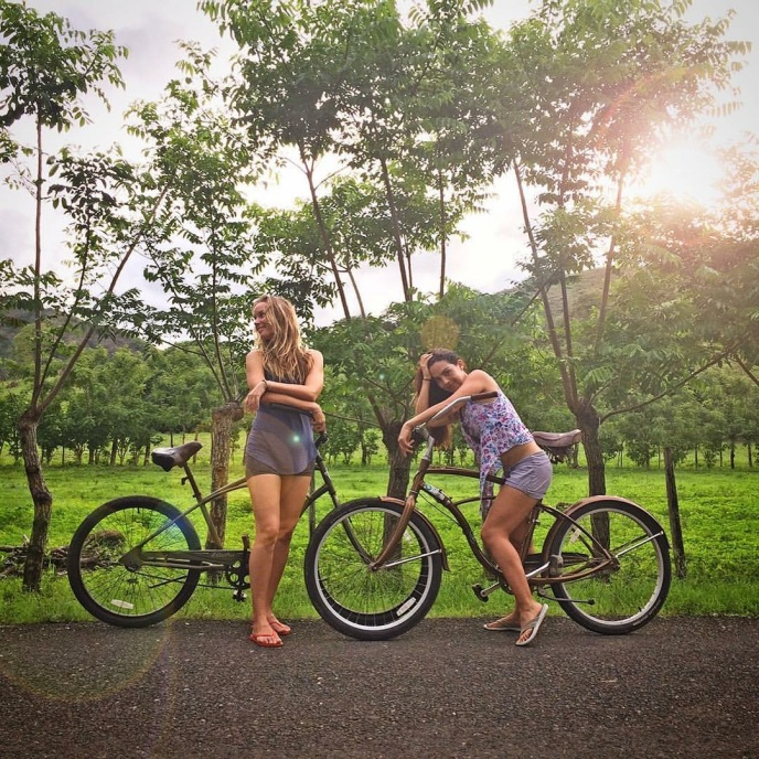 Sansara Magic- Our Scouting Trip To Cambutal, Panama For Happy New You! Yoga Retreat- Ewa- Fania-riding cruiser bikes