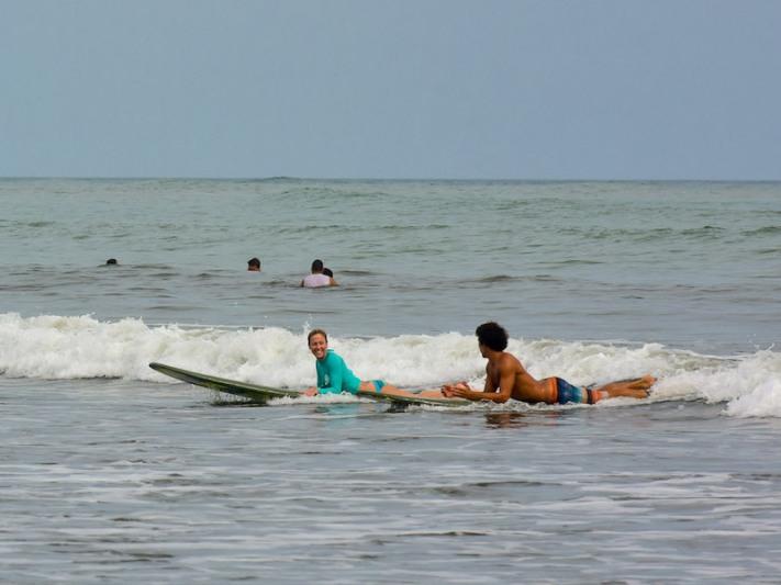 Lisa and Kenny Surfing Panama Happy New You! 2017 Cambutal Sansara Yoga and Spa .jpg
