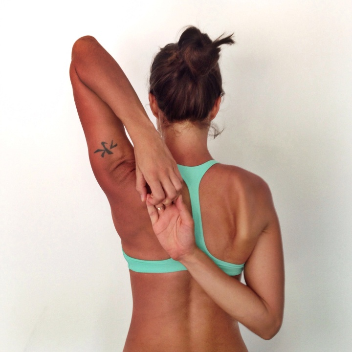 Gomukasana arms Valentina Mill Valley Instagram