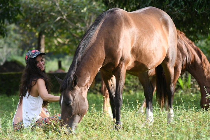 Horse Therapy Costa Rica Osa Peninsula New Year's Eve Yoga Retreat Blanca With Sally