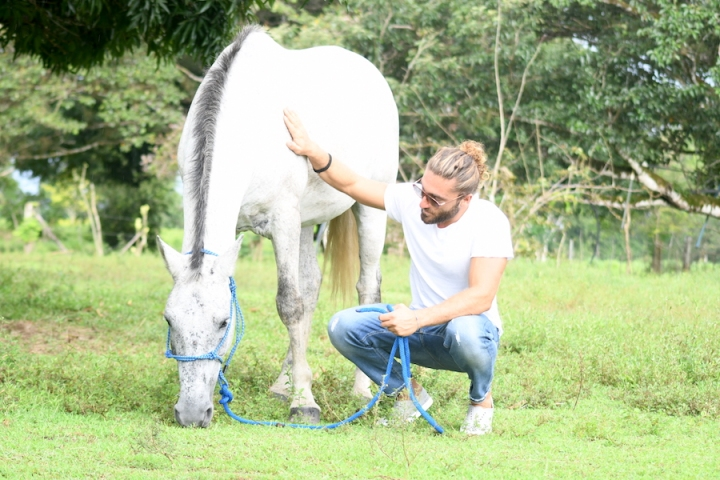 Horse Therapy Costa Rica Osa Peninsula New Year's Eve Yoga Retreat Blode Guy White Horse