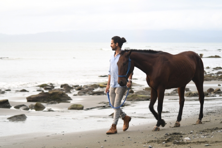 Horse Therapy Costa Rica Osa Peninsula New Year's Eve Yoga Retreat Michael Melendez Walking Horse