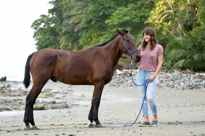 Horse Therapy Costa Rica Osa Peninsula New Year's Eve Yoga Retreat Valentina Rose Yoga Beach Horse