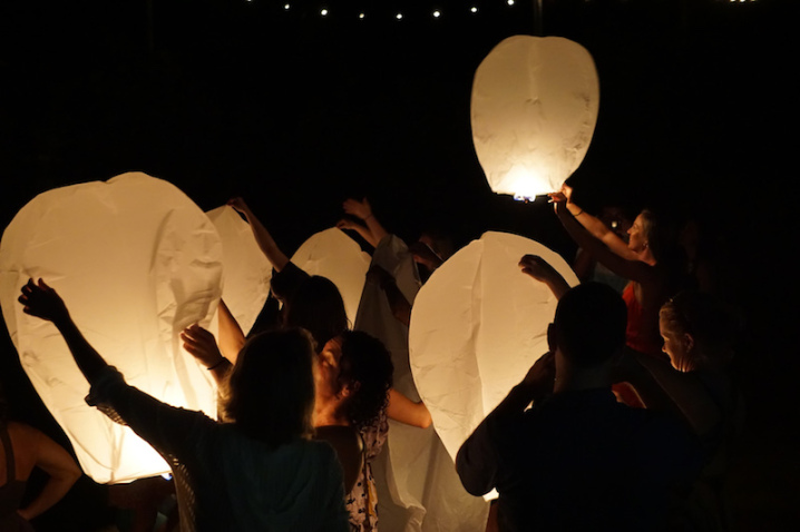 Valentina Rose Costa Rica Yoga Retreat Matapalo Osa Peninsula Paper Lantern New Year's Eve