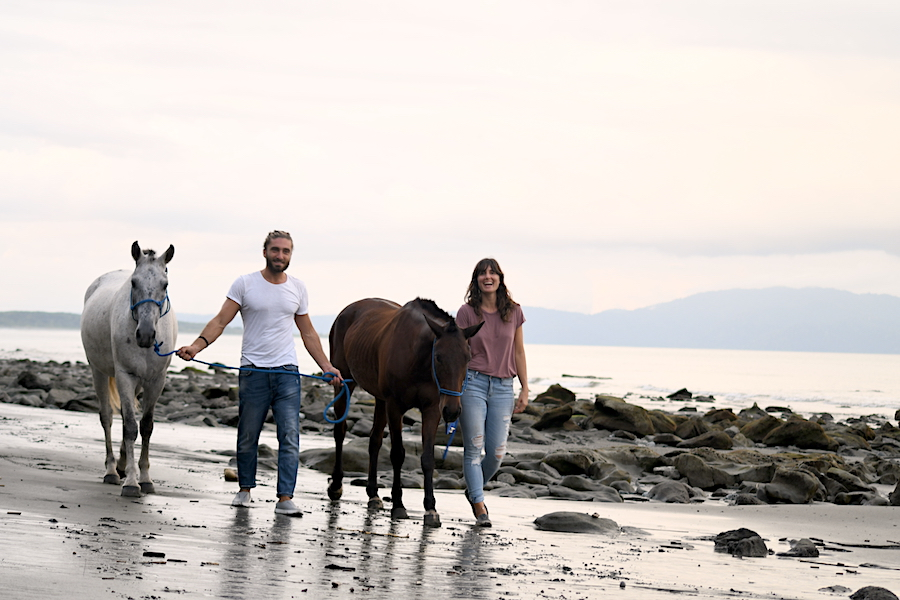 Horse Therapy Costa Rica Osa Peninsula New Year's Eve Yoga Retreat Beach Romantic Sunset