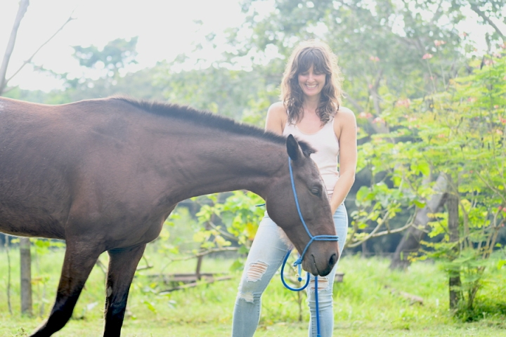 Horse Therapy Costa Rica Osa Peninsula New Year's Eve Yoga Retreat Horse Smile
