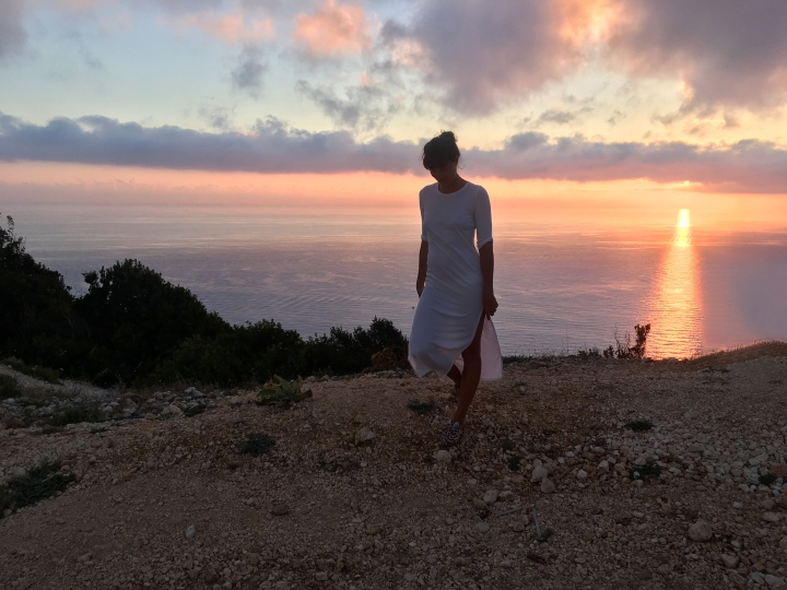 Iyengar Yoga Retreat Greece Sunset Lefkada Tessa & Valentina