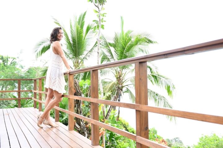 Valentina Rose Costa Rica Osa Peninsula Lapa Rios Deck Hanging Out