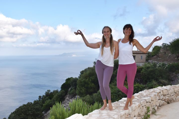 A Typical Day on the Iyengar Yoga Retreat At Urania Villas In Lefkada, Greece
