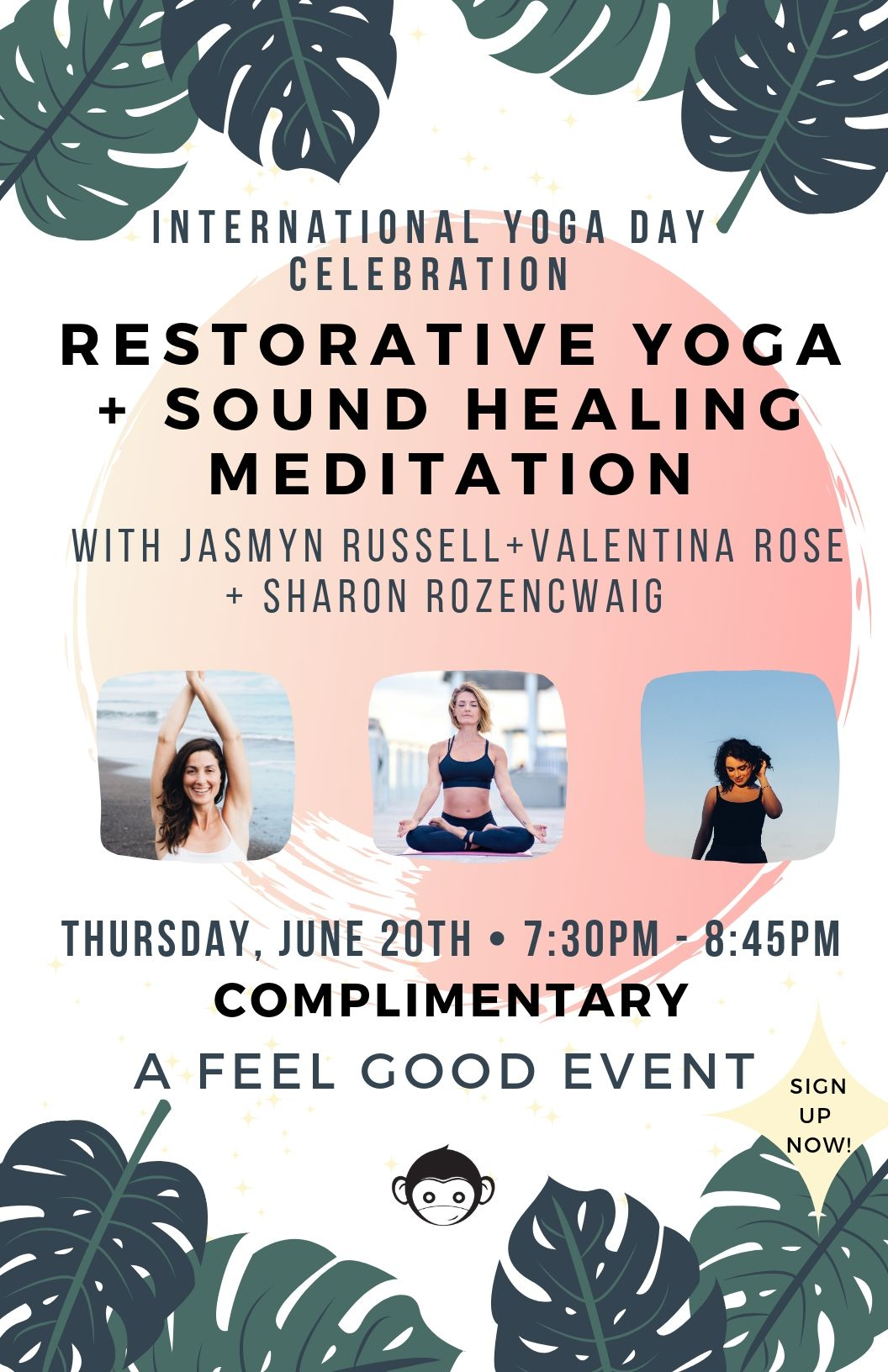 INTERNATIONAL YOGA DAY CELEBRATION GREEN MONKEY VALENTINA ROSE PRATO YOGA Miami Beach